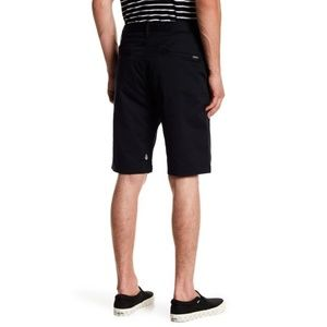 Volcom VMonty Stretch Chino Shorts Black Men's 34